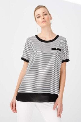 Ekol Kadın Siyah Çizgili Bluz
