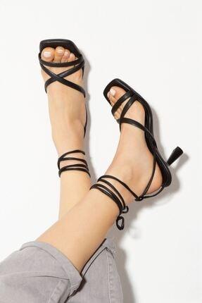 derithy Kadın Siyah Topuklu Ayakkabı  byc1702