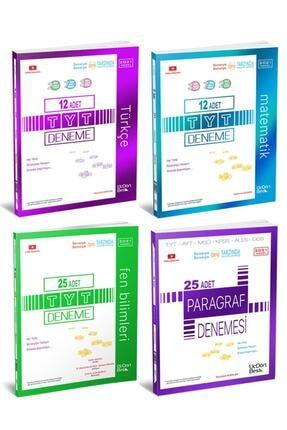 Üç Dört Beş Yayıncılık Üçdörtbeş Tyt Türkçe Matematik Fen Paragraf Deneme Seti 4 Kitap 2021 Yeni