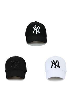 NuxFah Unisex Siyah Ny Şapka 3'lü Set