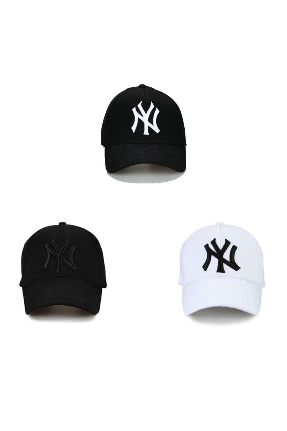 NuxFah Unisex Siyah Ny Şapka 3'lü Set 1