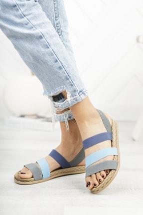 Deripabuc Gri Kadın Sandalet Dp21-0035