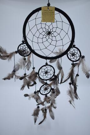 Hedicaret Düş Kapanı, 16 Cm, Siyah, Rüya Kapanı, Dream Catcher, Dekorasyon