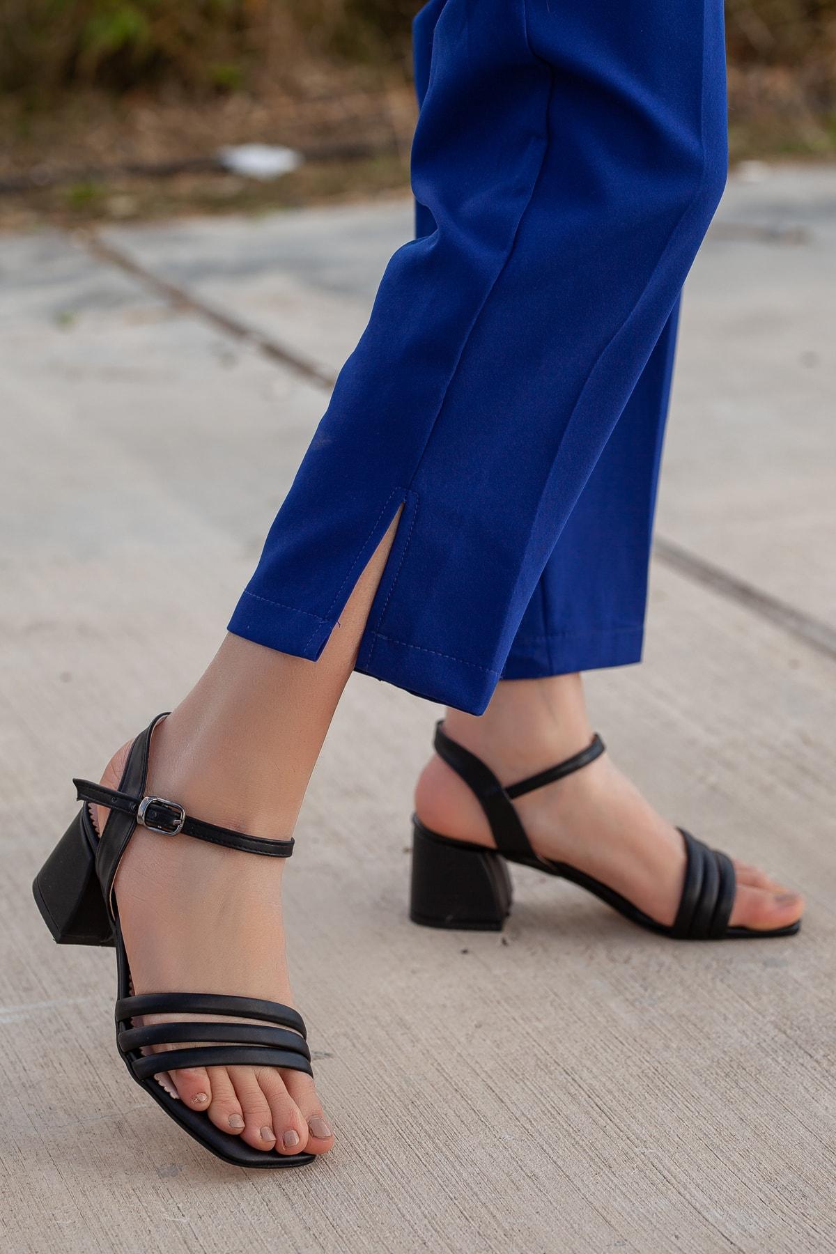 Daxtors Kadın Siyah Klasik Topuklu Ayakkabı 1