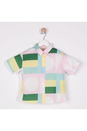 Panço Kız Çocuk Yeşil Gömlek 2111gk06006