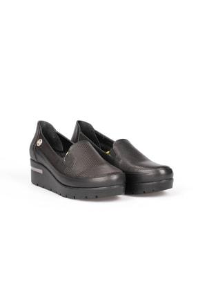 Mammamia 3210 Siyah Dolgu Topuk Kadın Ayakkabı
