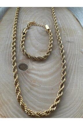 Dorika Accessories Çelik Burgu Takım Kolye Bileklik