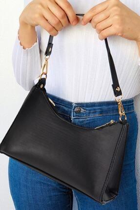 Defnella Kadın Siyah Baget Zincir Askılı El Ve Omuz Çantası
