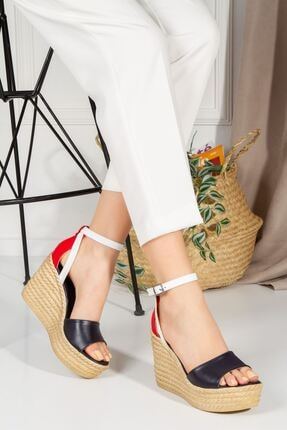 derithy Kadın Vinle Dolgu Topuklu Ayakkabı  1-lzt0590