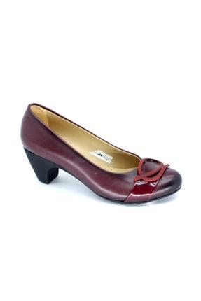 PUNTO Kadın Bordo Z Topuklu Ayakkabı 02432