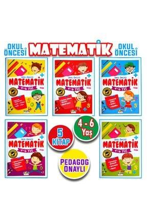 Harika Kitap 4 - 5 - 6 Yaş Okul Öncesi Matematik Çalışmaları Seti 5 Kitap