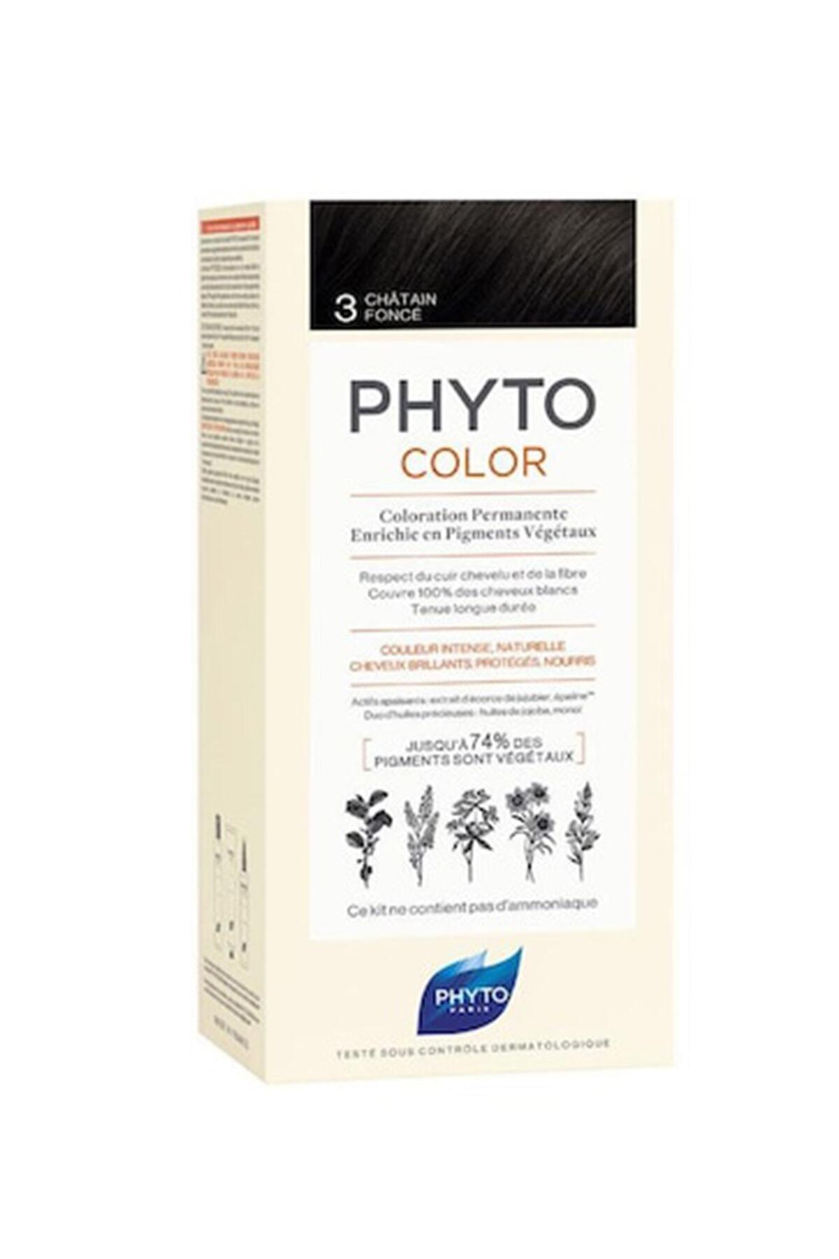 Phyto Color 3 - Koyu Kestane (Bitkisel Saç Boyası) - 1