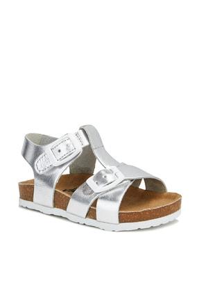 Vicco Sedna Deri Kız Bebe Gümüş Sandalet