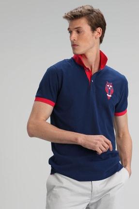 Lufian Palm Spor Polo T- Shirt Açık Lacivert