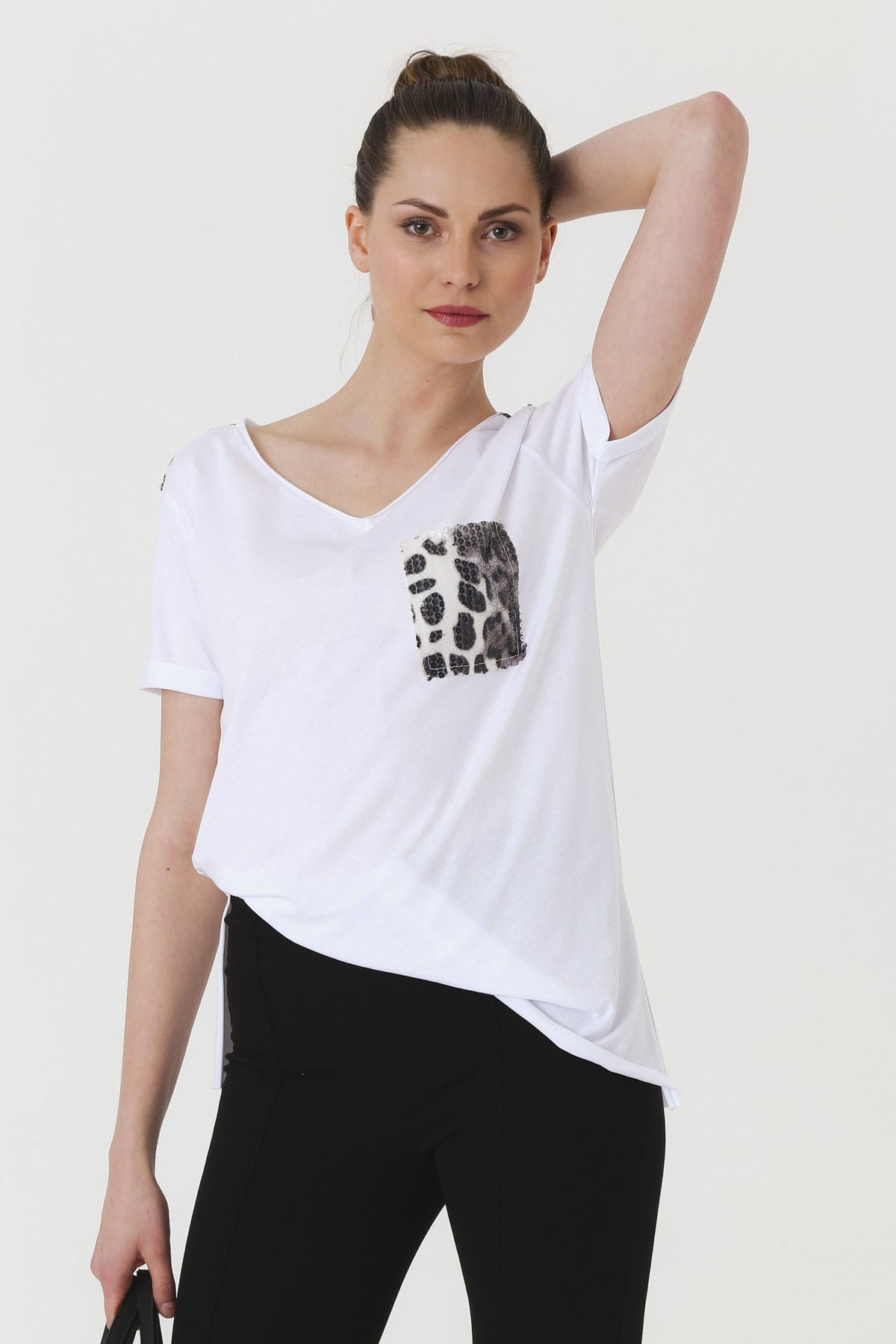Jument Kadın Beyaz T-shirt 7090 1