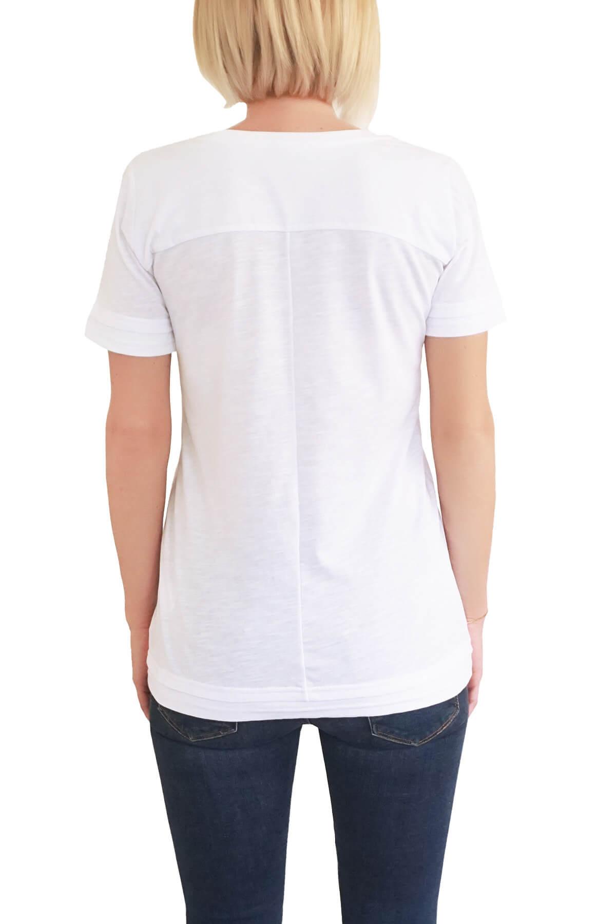 MOF Kadın Beyaz T-Shirt DVYT-B 2
