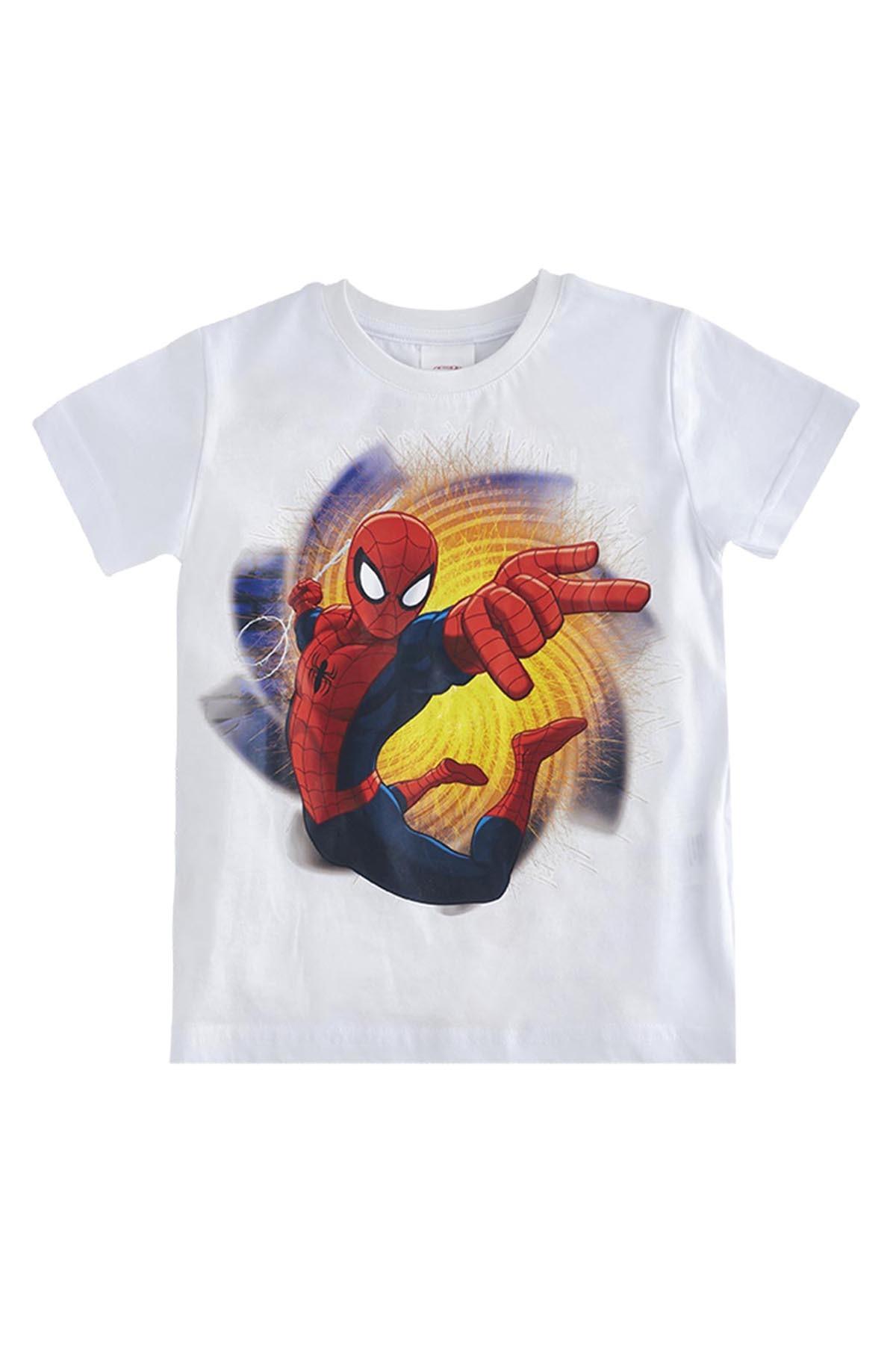 Soobe Ultimate Spider-Man Kısa Kol T-Shirt  Beyaz   15YECTSRT1320_00-0001 1