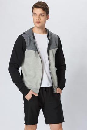 New Balance Erkek Sweatshirt - Vom - V-MTJ017-CHC