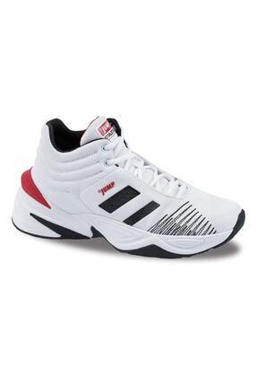 Jump Unisex Beyaz Bağcıklı Basketbol Spor Ayakkabısı 24774