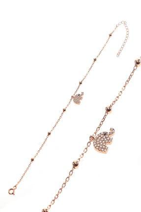 Söğütlü Silver Kadın Gümüş Fil Ve Toplu Zincir Bileklik SGTL8855