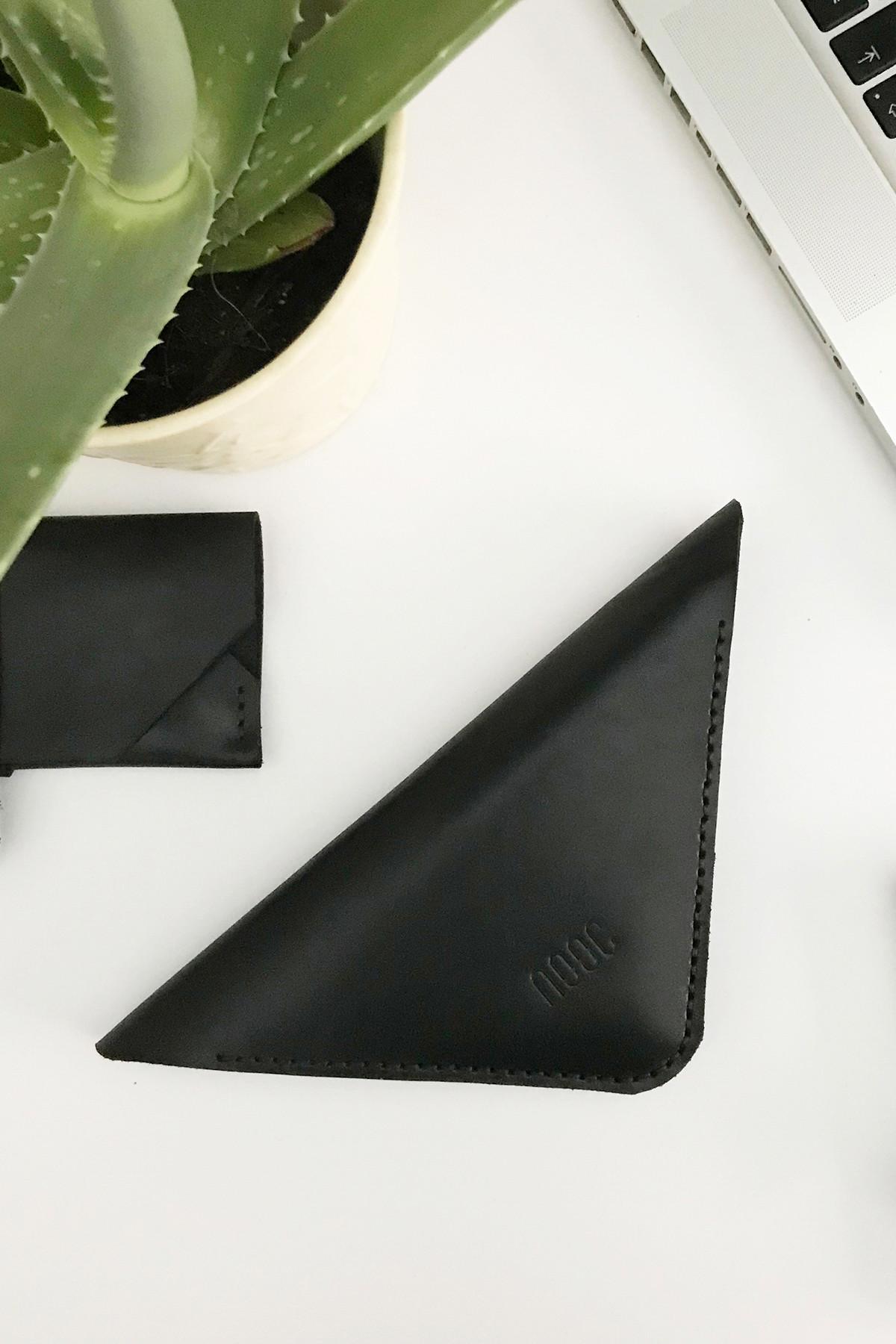 NOOC Soho Black Üçgen Cüzdan 1
