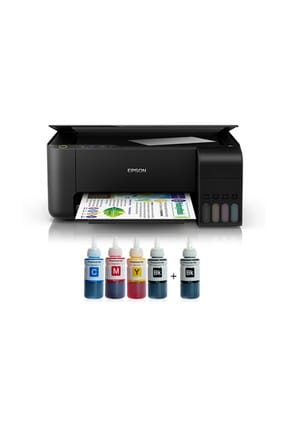 EPSON Tanklı L3110 Photoink Mürekkepli Yazıcı + 4 Renk Bitmeyen Kartuşlu
