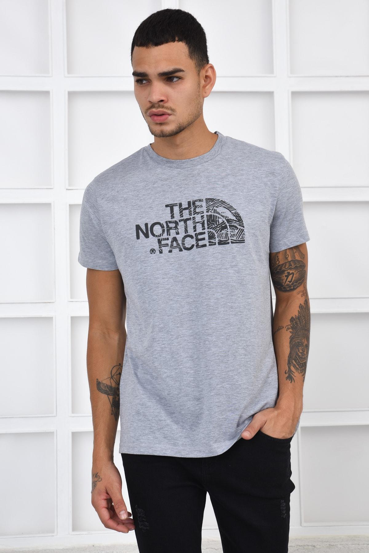 THE NORTH FACE Erkek T-shirt - Gri 1