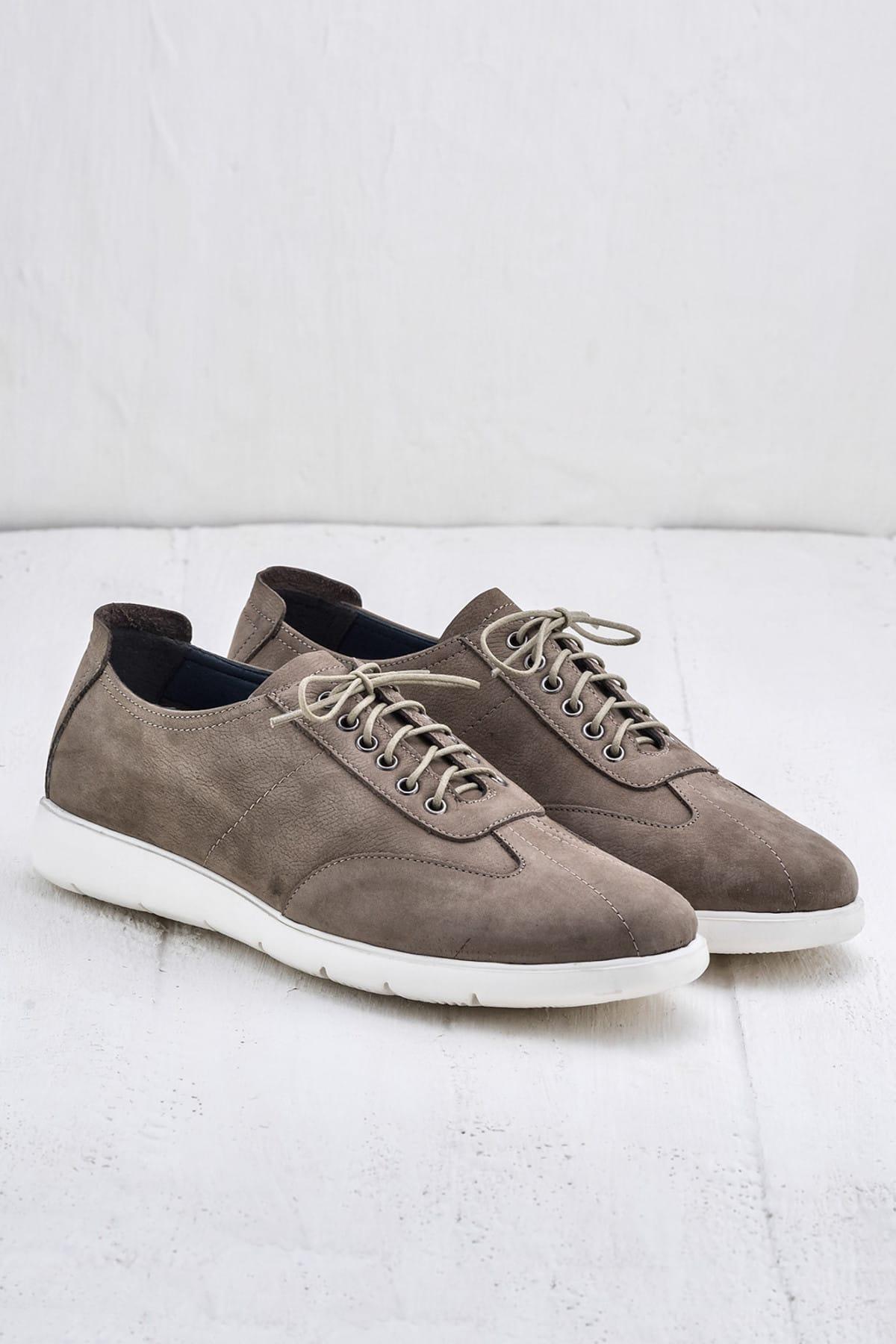 Elle Shoes ANSON Hakiki Deri Bej Erkek Ayakkabı 2