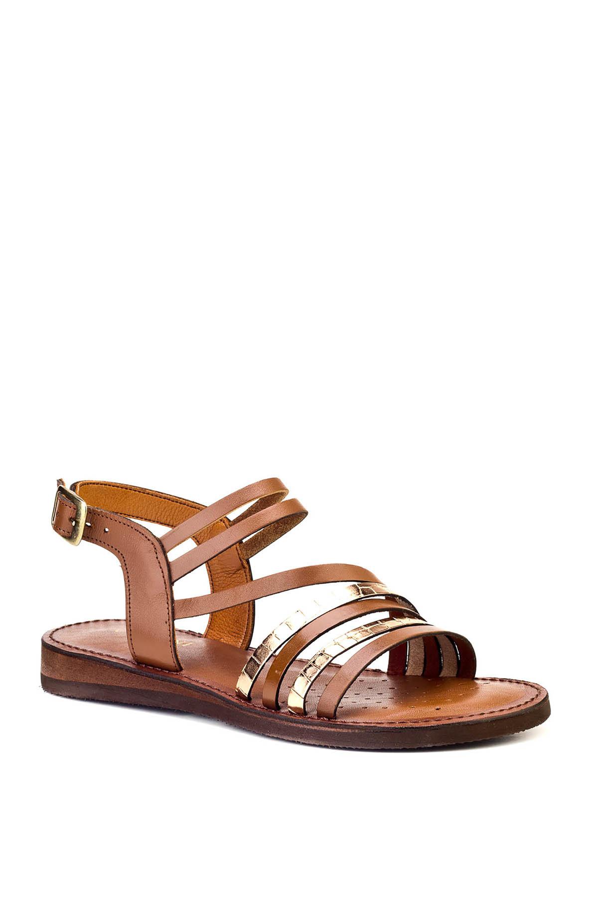 Cabani Hakiki Deri Taba Kadın Sandalet 8YBE05SA004W55 2