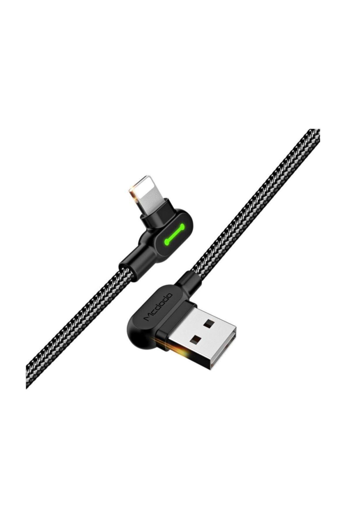 Mcdodo CA-4673 Apple iPhone Uyumlu Data ve Şarj Kablosu 1.8 metre Siyah 1