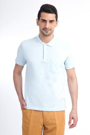 Kiğılı Erkek Mavi Polo Yaka T-Shirt - 44146