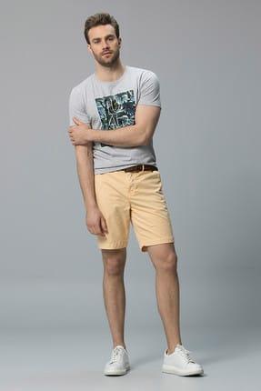 Lufian Erkek Iksion Modern Grafik T- Shirt Açik Gri 111020014100180
