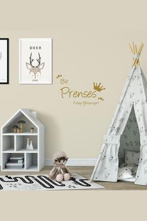 Bebek Center Prenses Kolay Yetişmiyor Bebek Odası Sticker Altın /