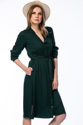 Pitti Kadın Zümrüt Yeşili Gömlek Elbise 50994