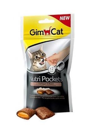 Gimcat Nutri Pockets Kümes Hayvanlı Biyotinli Kedi Ödülü 60 gr