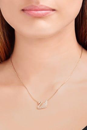 Swarovski Kadın Kolye Swan:Necklace Cry/Ros 5121597