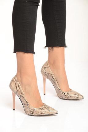 Shoes Time Bej Kadın Topuklu Ayakkabı 18Y 708
