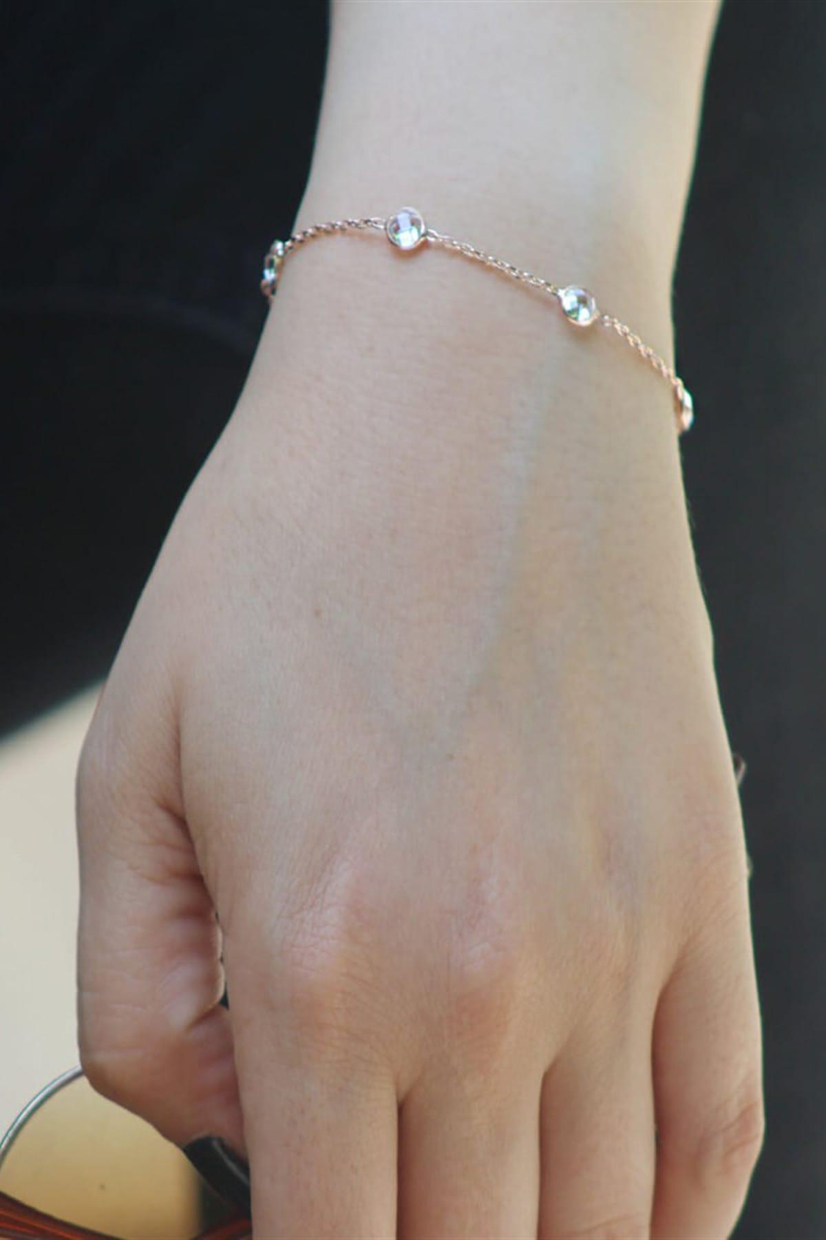 Silverplus Kadın Taşlı Tiffany Gümüş Bileklik AG1175 1