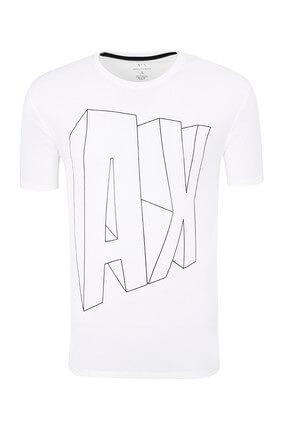 Armani Exchange Beyaz Erkek T-Shirt 6ZZTAG ZJS3Z 1100