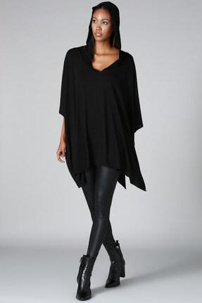 Quincey Kadın Siyah Panço HK2120