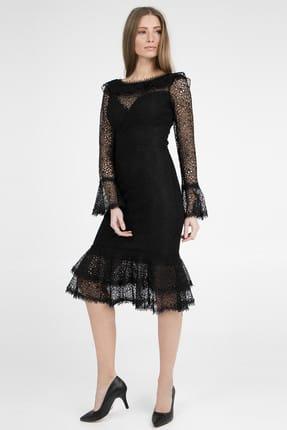 TREND Kadın Siyah Abiye Elbise - 4784150