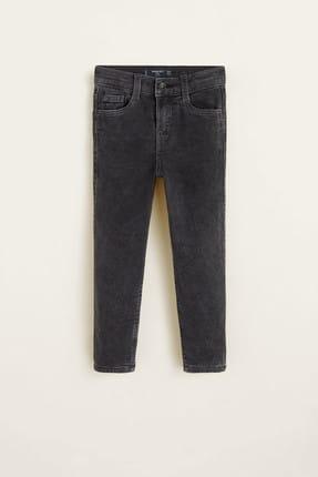 MANGO Kids Gri Erkek Çocuk Soluk tasarımlı comfy jean pantolon