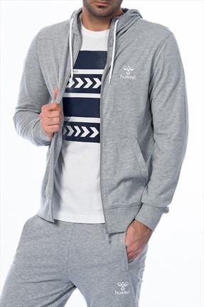 HUMMEL Erkek Sweatshirt - Damıen Zıp Hoodıe - T36840-2006