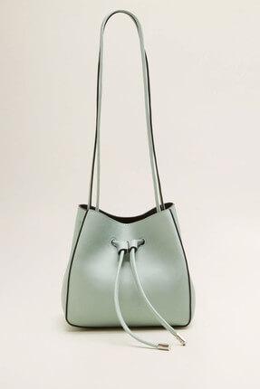 MANGO Woman Kadın Pastel Yeşil Bucket Çanta 33087674
