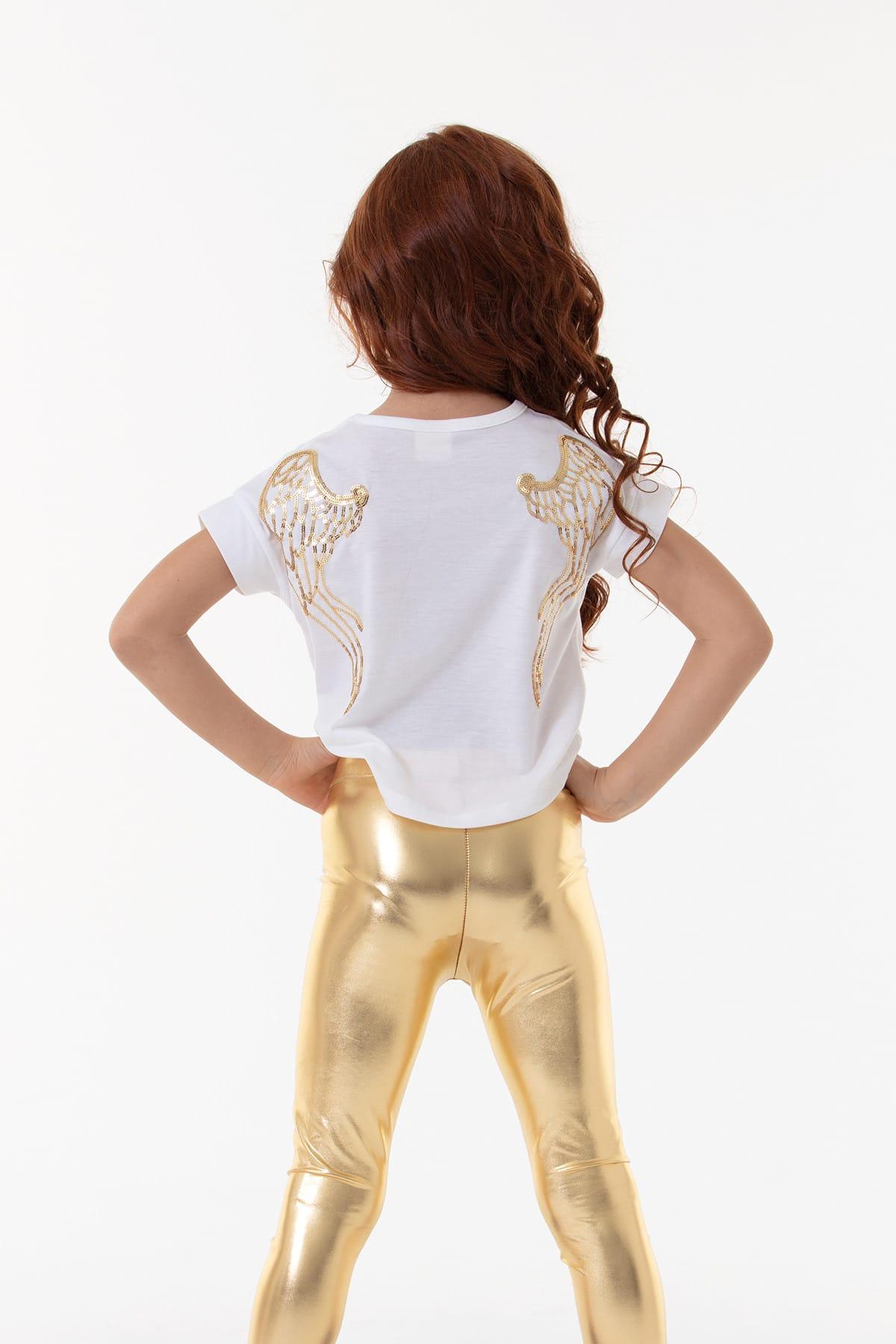 Colorinas Angel Tshirt Short Sleeve White 2