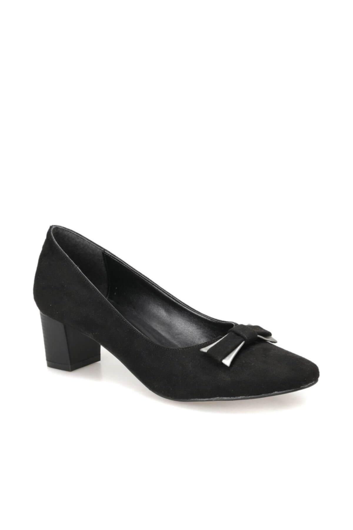 Miss F DW18033 Siyah Kadın Topuklu Ayakkabı 100340763 1