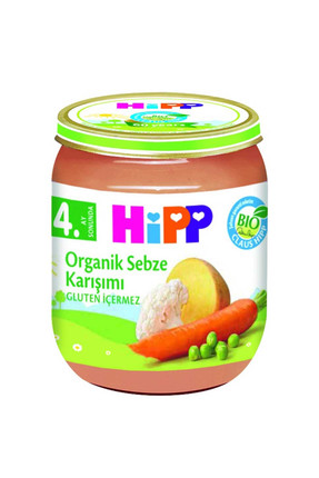 Hipp Organik Sebze Karışımı Kavanoz Maması 125 gr