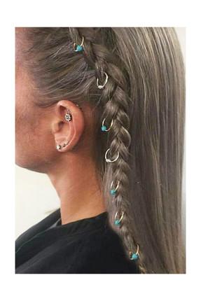 New Obsessions Kadın Nostaljik Saç Küpesi 7'Li