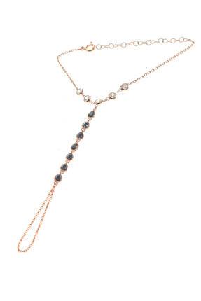 Söğütlü Silver Kadın Rose Renk Gümüş Zirkon Ve Onix Taşlı Şahmeran SGTL8609