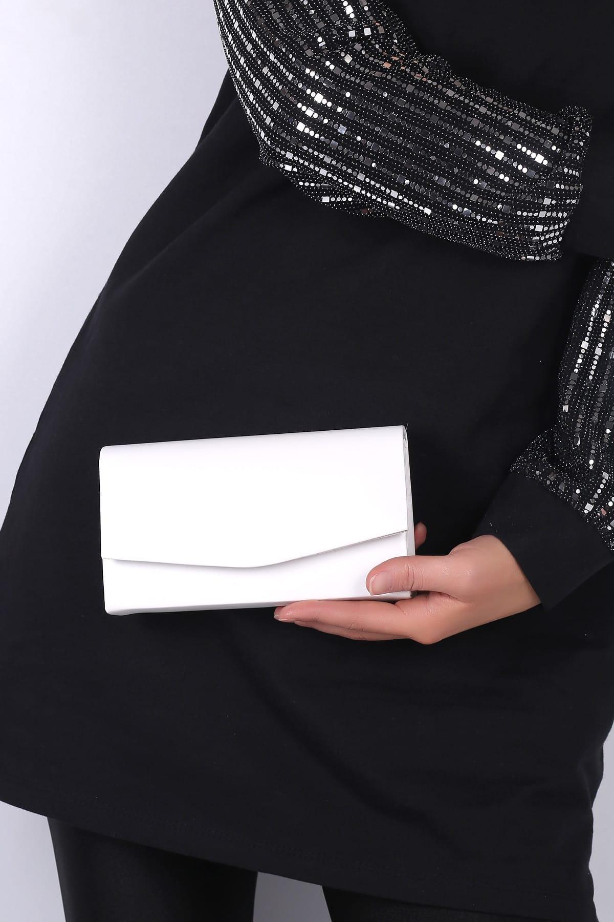 WMİLANO Beyaz Cilt Kadın El Çantası C0201-18 1